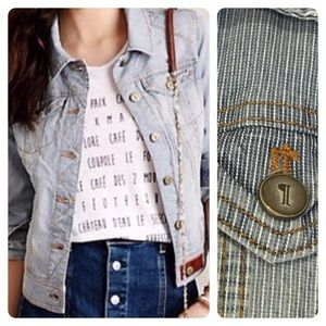 Pilcro & The Letterpress Stripe Denim Jacket